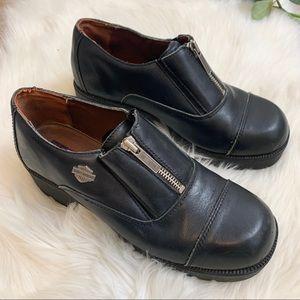 Harley Davidson alternator steel toe shoes boots 9